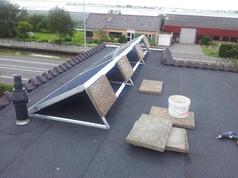 Bestel hier beugels voor zonnepanelen op een plat dak